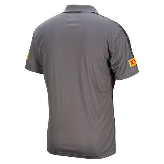 QLD Maroons State of Origin 2021 Mens Team Polo, Grey, rebel_hi-res