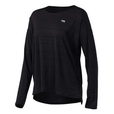 Running Bare Womens Cosmic Long Sleeve Tee Black 8, Black, rebel_hi-res