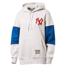 Majestic Womens Madi Cozy NY Yankees Hoodie White XS, White, rebel_hi-res