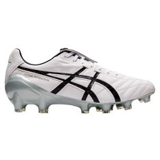 Asics Lethal Testimonial 4 IT Football Boots White / Black US Mens 7 / Womens 8.5, White / Black, rebel_hi-res