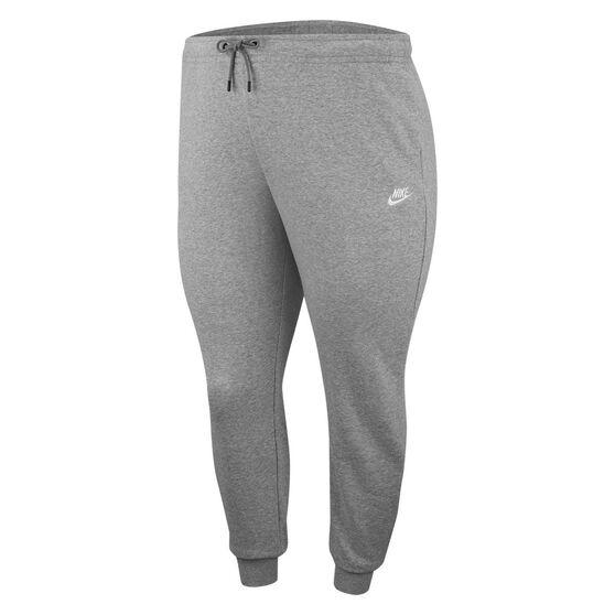 Nike Womens Sportswear Essentials Fleece Track Pants Plus, Grey, rebel_hi-res