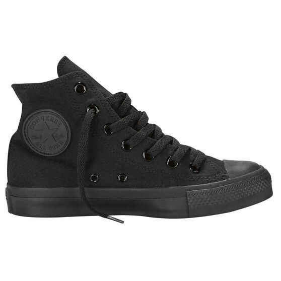 Converse Chuck Taylor All Star Hi Top Casual Shoes, Black / Black, rebel_hi-res