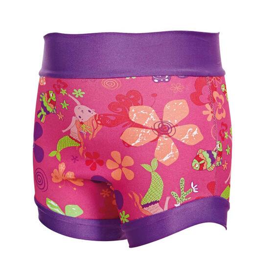 Zoggs Mermaid Flower Swimsure Nappy, Pink, rebel_hi-res