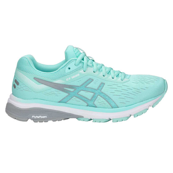 Asics GT 1000 7 Womens Running Shoes, Teal / Silver, rebel_hi-res