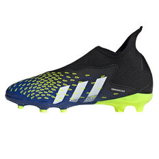 adidas Predator Freak .3 Laceless Kids Football Boots Black US 1, Black, rebel_hi-res