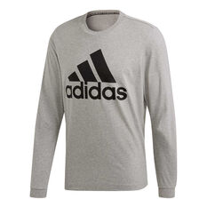91340e3a96c adidas Mens Must Haves Badge of Sport Long Sleeve Tee Grey S, Grey, rebel_hi