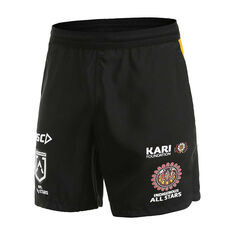 Indigenous All Stars 2020 Mens Training Shorts Black S, Black, rebel_hi-res
