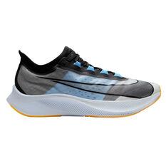 Nike Zoom Fly 3 Mens Running Shoes White / Black US 7, White / Black, rebel_hi-res