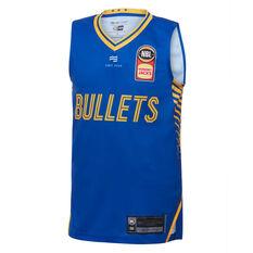 Brisbane Bullets 2019/20 Kids Home Jersey Blue 8, Blue, rebel_hi-res