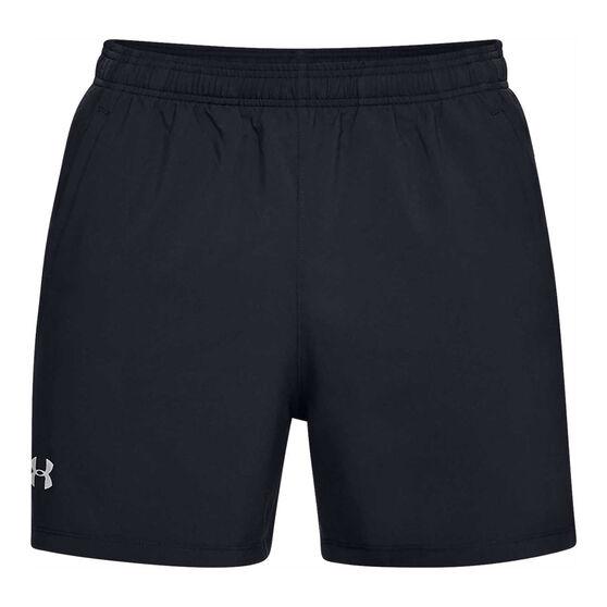 Under Armour Mens Launch 5in Running Shorts Black L, Black, rebel_hi-res