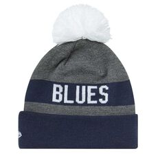 Carlton Blues 2018 New Era Jake Beanie Grey OSFA, , rebel_hi-res