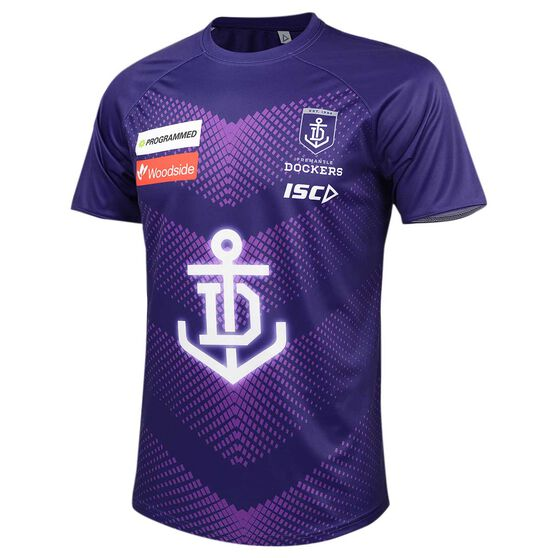 Fremantle Dockers 2020 Mens Training Tee Purple S, Purple, rebel_hi-res