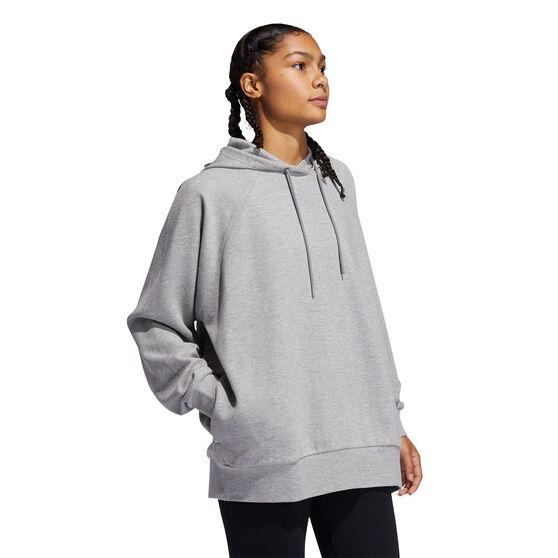 adidas Womens Rib Hoodie, Grey, rebel_hi-res