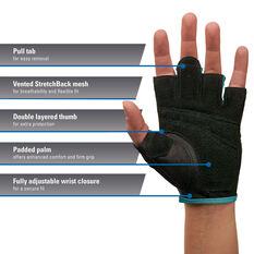 Harbinger Womens Power Glove Blue S, Blue, rebel_hi-res