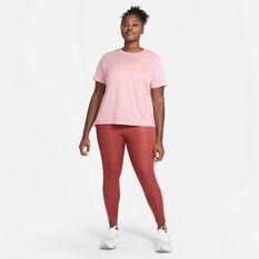Nike Womens Miler Running Tee Plus Pink 1X, Pink, rebel_hi-res