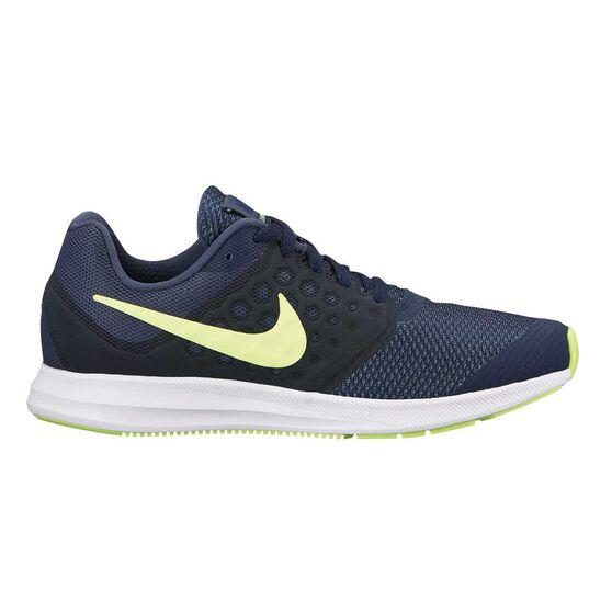 6e3b5cf3bd465 Nike Downshifter 7 Boys Running Shoes Blue   Black US 4