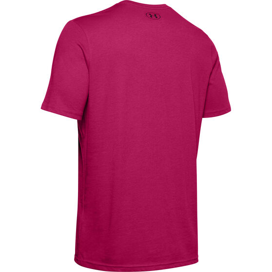 Under Armour Mens Sportstyle Tee, Pink, rebel_hi-res
