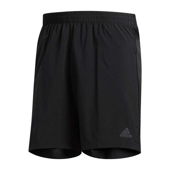 adidas Mens Run it Shorts Black XL, Black, rebel_hi-res