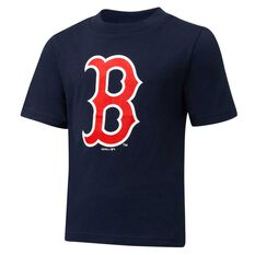 Boston Red Sox Short Sleeve Cotton Tee Navy / Red 3, Navy / Red, rebel_hi-res