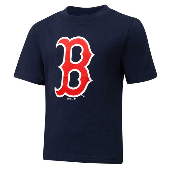 Boston Red Sox Short Sleeve Cotton Tee Navy / Red 7, Navy / Red, rebel_hi-res