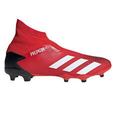 adidas Predator 20.3 Laceless Football Boots, Red / White, rebel_hi-res