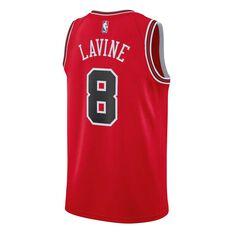 Nike Chicago Bulls Zach LaVine Icon 2018 Mens Swingman Jersey University Red S, University Red, rebel_hi-res