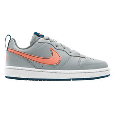 Nike Court Borough Low 2 Kids Casual Shoes Blue/Coral US 4, Blue/Coral, rebel_hi-res