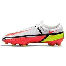 Nike Phantom GT2 Pro Football Boots White/Red US Mens 4 / Womens 5.5, White/Red, rebel_hi-res