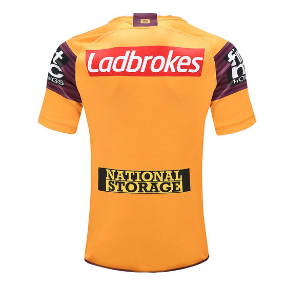 Brisbane Broncos 2020 Mens Away Jersey, Gold / Maroon, rebel_hi-res