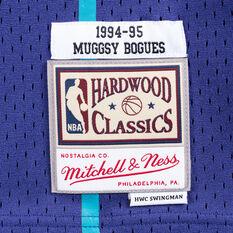 Charlotte Hornets Muggsy Bogues 94/95 Mens Swingman Jersey Blue XL, Blue, rebel_hi-res