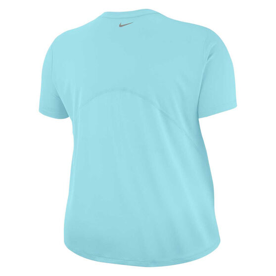 Nike Womens Miler Running Tee Plus Blue XL, Blue, rebel_hi-res