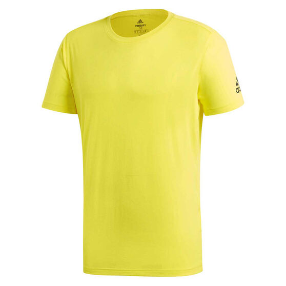 adidas Mens Freelift Prime Tee Yellow L, Yellow, rebel_hi-res