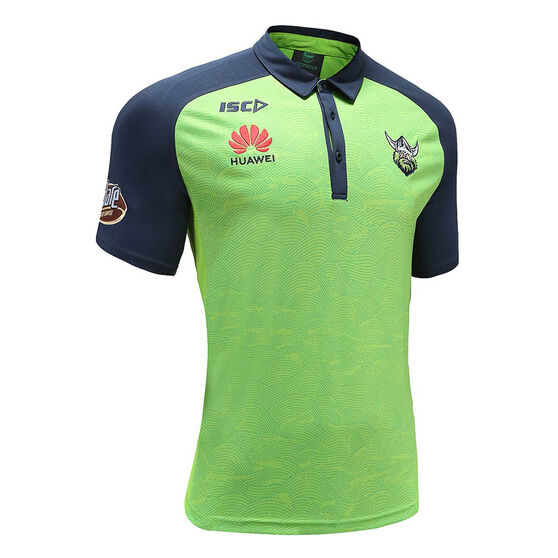 Canberra Raiders 2020 Mens Performance Polo, Green, rebel_hi-res