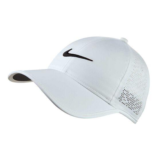 Nike Womens Perforated Golf Cap White   Black OSFA  a203b9bca815