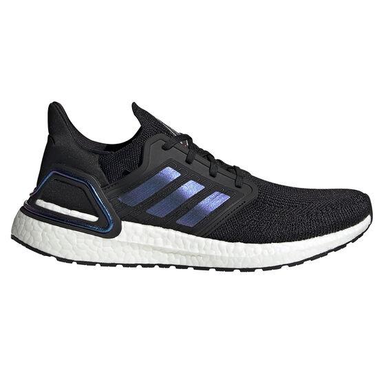adidas Ultraboost 20 Space Race Mens Running Shoes, Black / Purple, rebel_hi-res