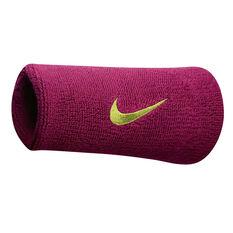 Nike Swoosh Double Wide Wristband Berry, , rebel_hi-res