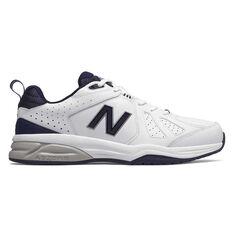 New Balance 624 V4 4E Mens Cross Training Shoes White / Navy US 7, White / Navy, rebel_hi-res