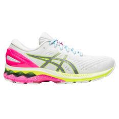 Asics GEL Kayano 27 Lite Show Womens Running Shoes White/Silver US 6, White/Silver, rebel_hi-res
