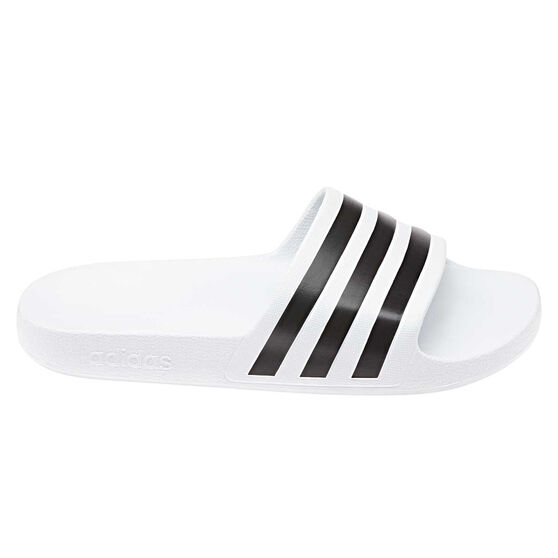 adidas Adilette Aqua Womens Slides White / Black US 7, , rebel_hi-res
