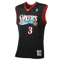 Mitchell & Ness Philidelphia 76ers Allen Iverson 2001 Swingman Basketball Jersey, , rebel_hi-res