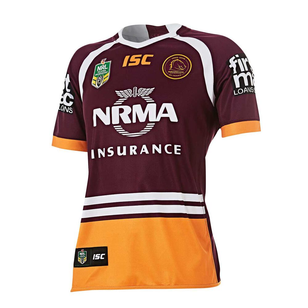 Brisbane Broncos 2018 Mens Home Jersey S  e4c716bc0