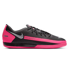 Nike Phantom GT Academy Indoor Soccer Shoes Black/Silver US Mens 7 / Womens 8.5, Black/Silver, rebel_hi-res