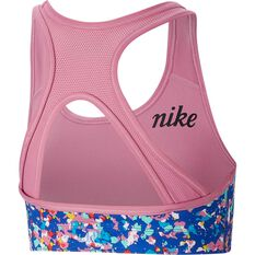 Nike Pro Girls Classic Reversible Print Sports Bra Blue / Pink XL, Blue / Pink, rebel_hi-res