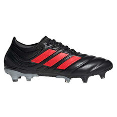 adidas Copa 19.1 Football Boots Black / Red US Mens 7 / Womens 8, Black / Red, rebel_hi-res