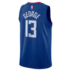 Nike Los Angeles Clippers Paul George 2020/21 Mens Icon Edition Authentic Jersey Blue S, Blue, rebel_hi-res