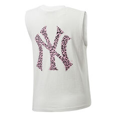 Majestic Womens NY Big Animal Logo Tank White XS, White, rebel_hi-res