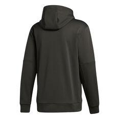 adidas Mens Go Big Badge of Sport Hoodie Grey S, Grey, rebel_hi-res