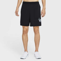 Nike Mens Dri-FIT Graphic Training Shorts Black S, Black, rebel_hi-res