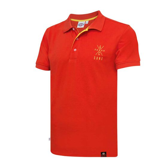 Gold Coast Suns Mens Pique Polo Shirt L, , rebel_hi-res