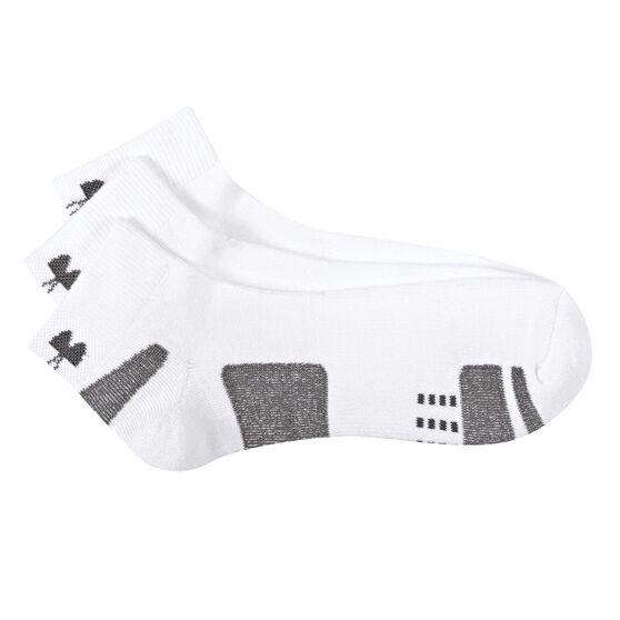 Under Armour HeatGear Low Cut 3 Pack Socks White / Black M, White / Black, rebel_hi-res